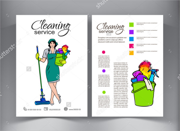 Colorful Cleaning Service Flyer Template