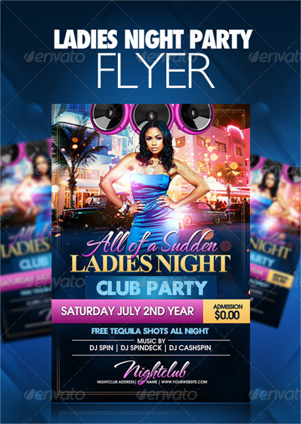 23 Ladies Night Party Flyer Templates Free Premium Download