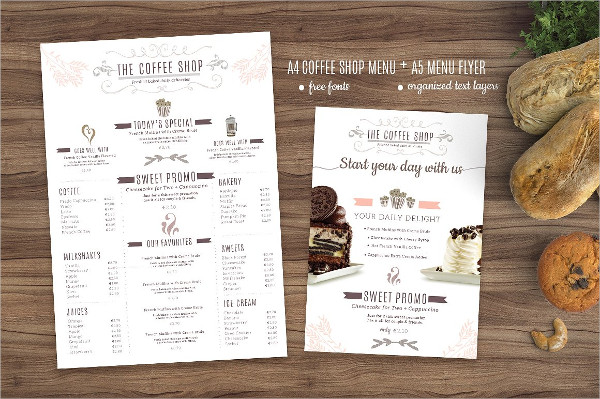 25  coffee menu templates