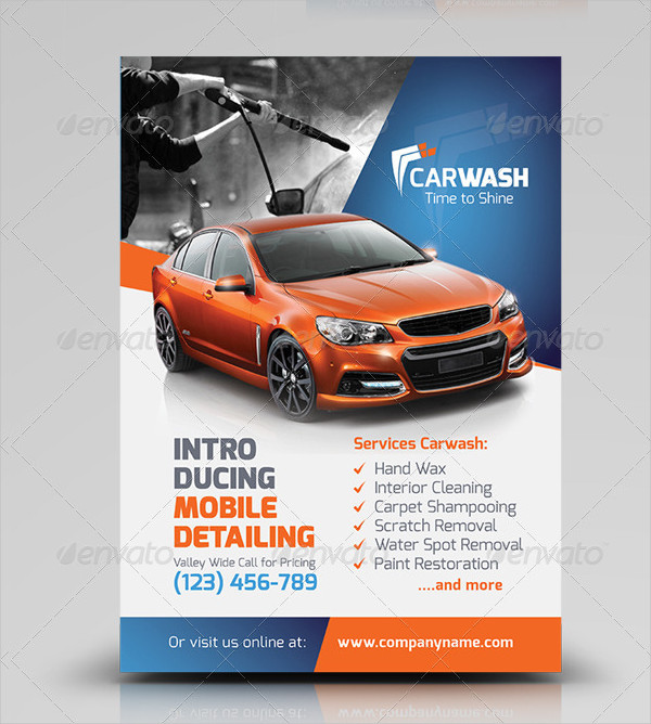 Car Wash Flyer Templates  Free Psd Ai Eps Format Download