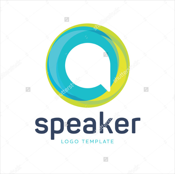 Speaker Logo Template for Communication