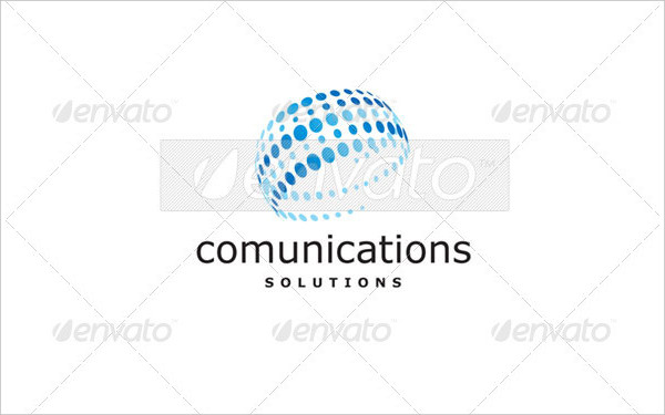 Communication Solutions Logo Template