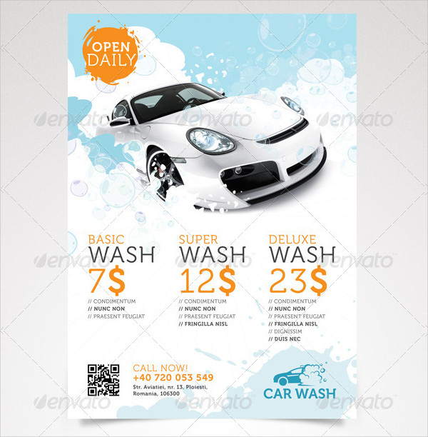 Unique Car Wash Flyer Template