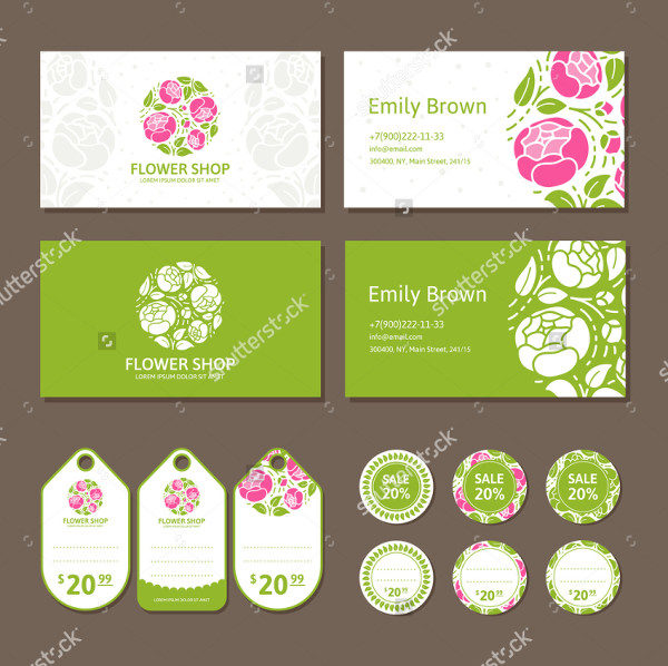 Corporate Identity Flower Shop Business Card