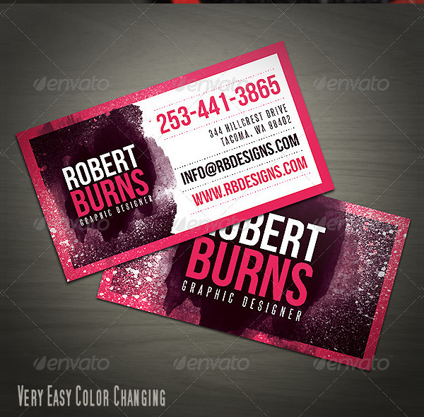 Creative Artistic Business Card Template