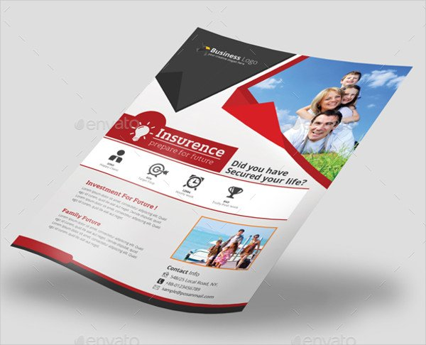 Insurance Company Advertising Flyer Template