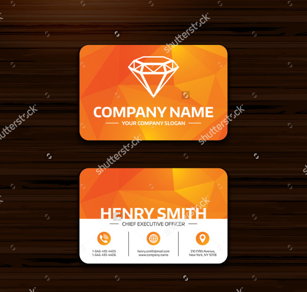 Diamond Sign Jewelry Business Card