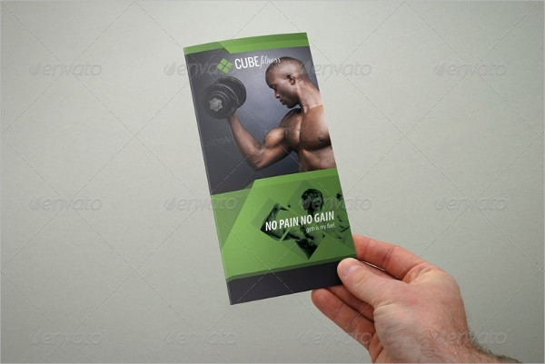 Colorful Fitness Brochure Template