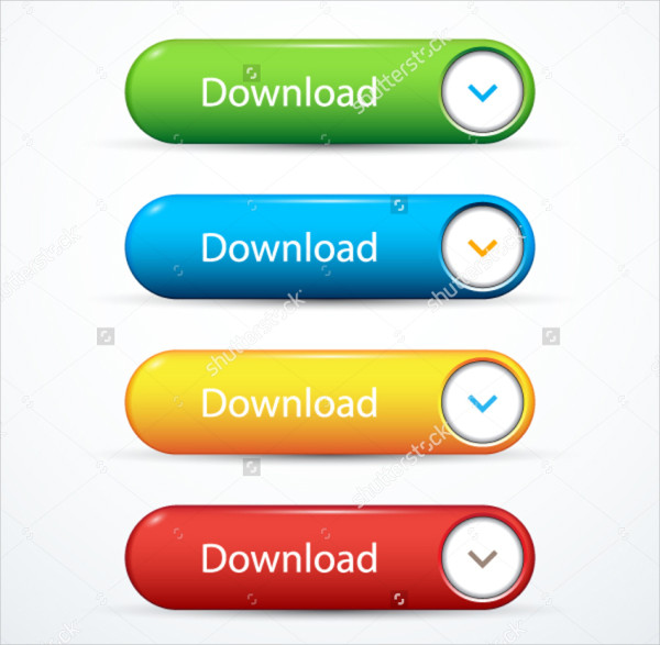 Set of Download Design Buttons