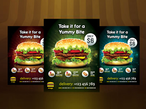 Delicious Burger Flyer Template