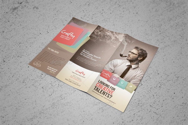 Creative Design Agency Trifold Brochure