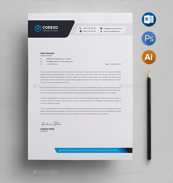 33 letterhead templates free premium download designer letterhead template thecheapjerseys Choice Image