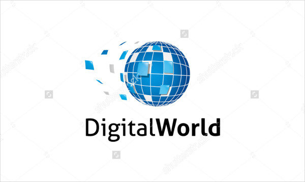 Digital World Logo Template