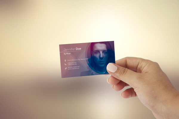 Clean Business Card Template for DJ Music
