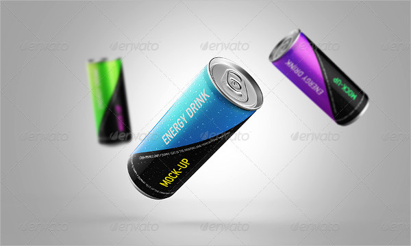 Editable Drink Can Mock-Up