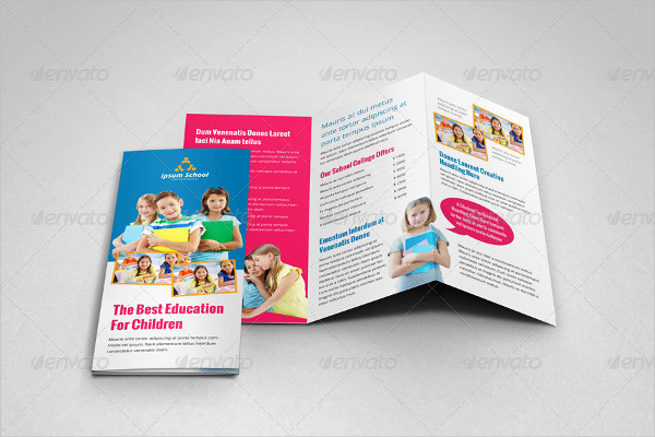 Education School Trifold Brochure