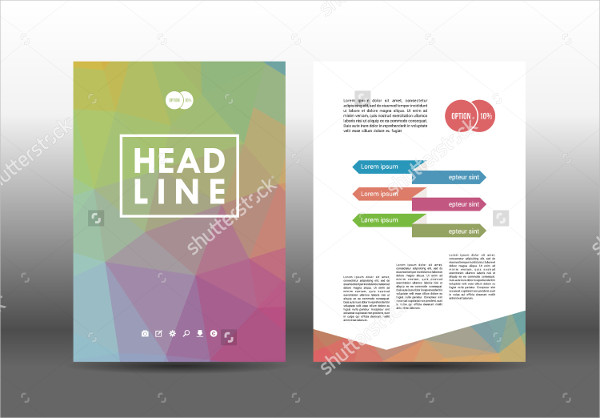 Geometric Design Brochure Template for Education