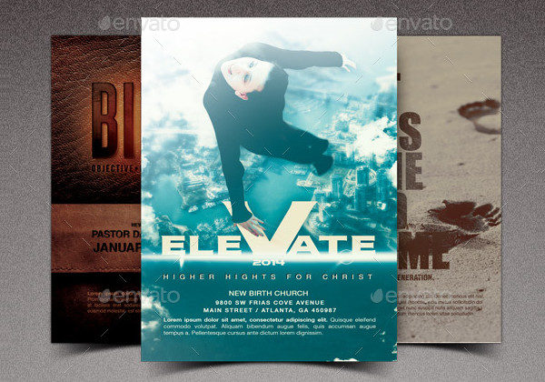 Elevate Church Marketing Flyer Template Bundle