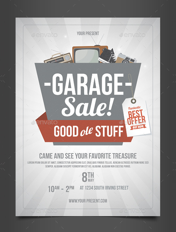 Professional Garage Sale Flyer Template
