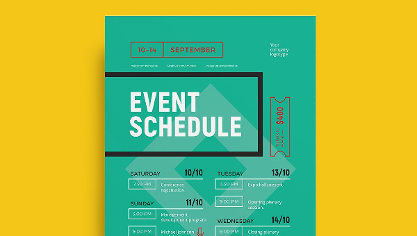 Event Timetable Template Special Event Production Schedule Example