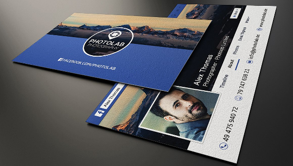 21 facebook business card templates free premium download