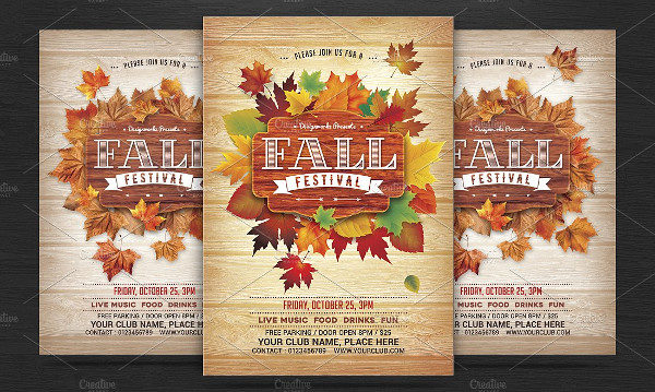fall festival flyers template free