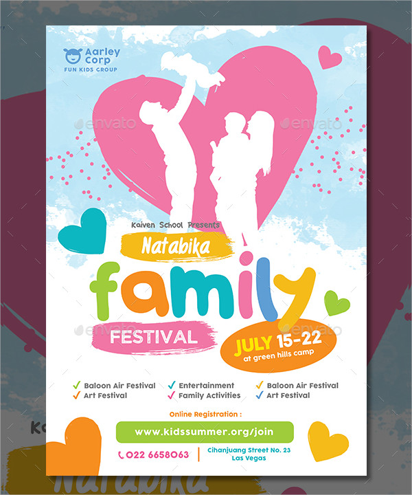 Family Festival Flyer Template