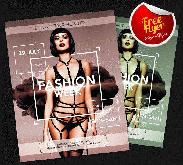 Fashion Week Free PSD Flyer Template