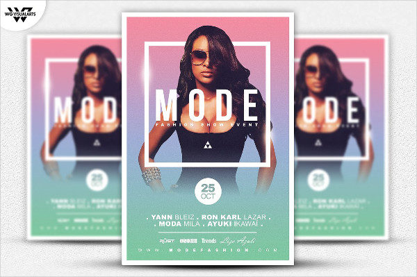 Excellent Fashion Show Event Flyer Template