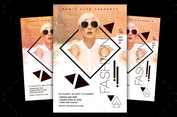 Fashion Party Invitation Flyer