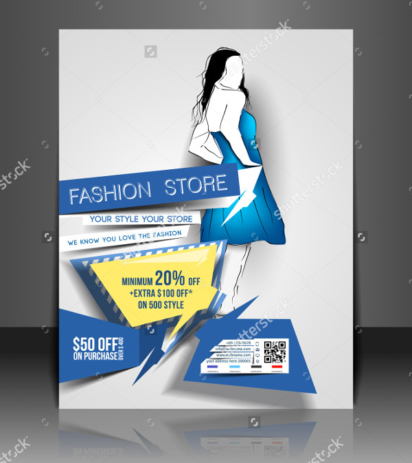 Vector Fashion Store Flyer Template