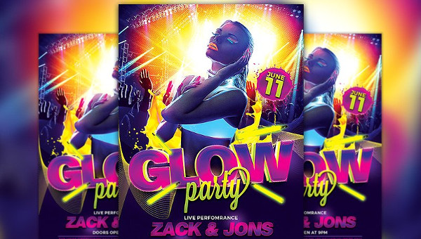 23 glow party flyer templates free premium download parties and the upcoming informal or less formal events can be promoted utilizing party plus event flyer templates today we discuss glow party flyer pronofoot35fo Choice Image