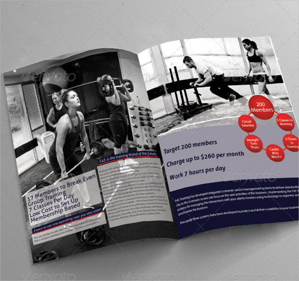Fitness Training Brochure Template