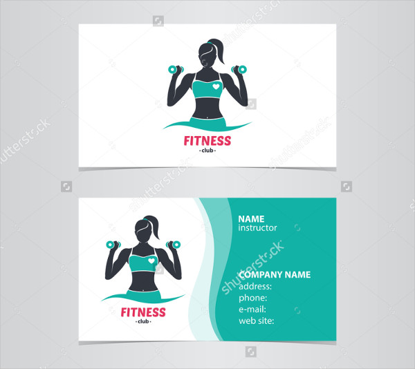 25 fitness business card templates free premium download for Business cards for women
