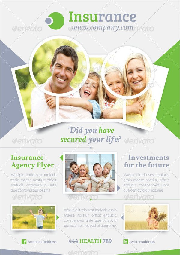 Clean Insurance Agent Flyer Template
