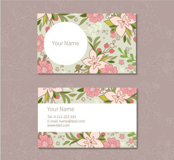 Floral Business Cards Template Free Download