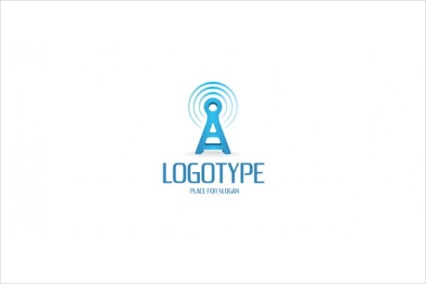 Free PSD Communication Company Logo Template