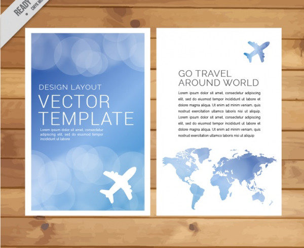 Free Travel Agency Brochures Vector