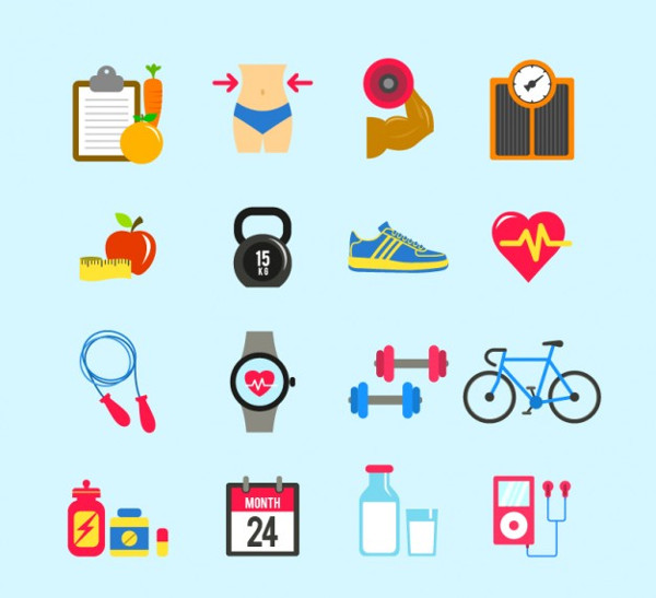 Free Vector Fitness Icons