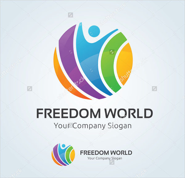 Freedom World Vector Logo Template