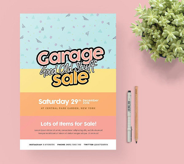 Perfect Garage Sale Flyer Template