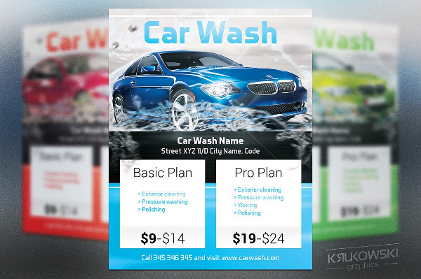 22 car wash flyer templates free premium download. Black Bedroom Furniture Sets. Home Design Ideas