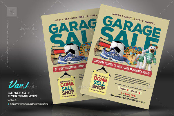 Fully Editable Garage Sale Flyers