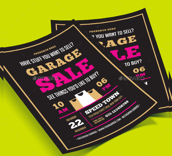 Attractive Garage Sale Flyer Template