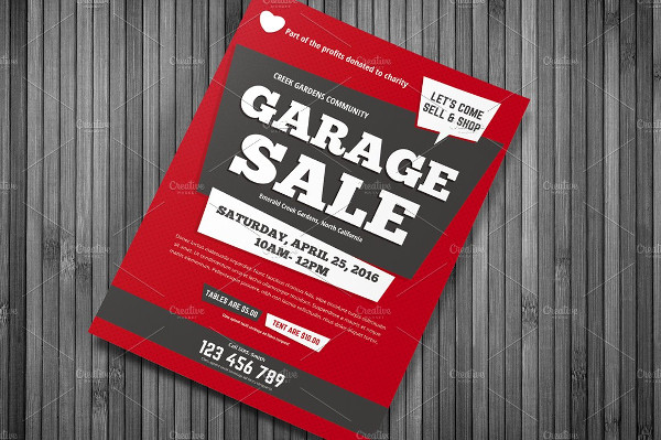 Fully Editable Garage Sale Flyer Template