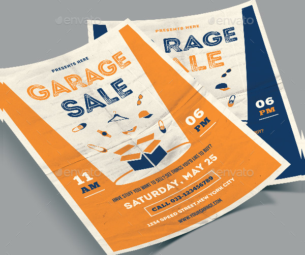 Garage Sale Event Flyer Template
