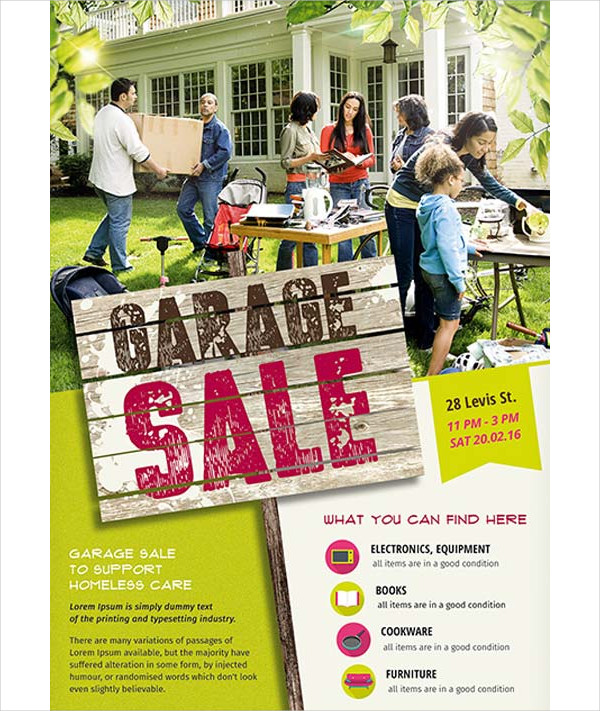 Garage Sale Event Free Flyer Template
