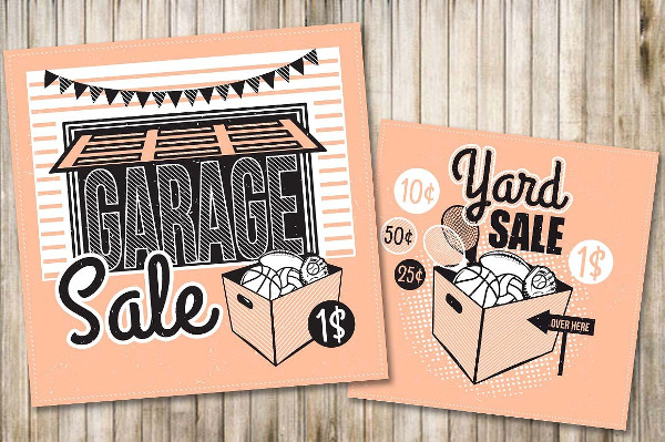 Printable Garage Sale Poster or Flyer Template