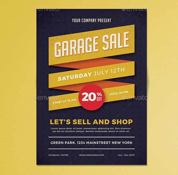 Garage Sale Promotion Flyer Template