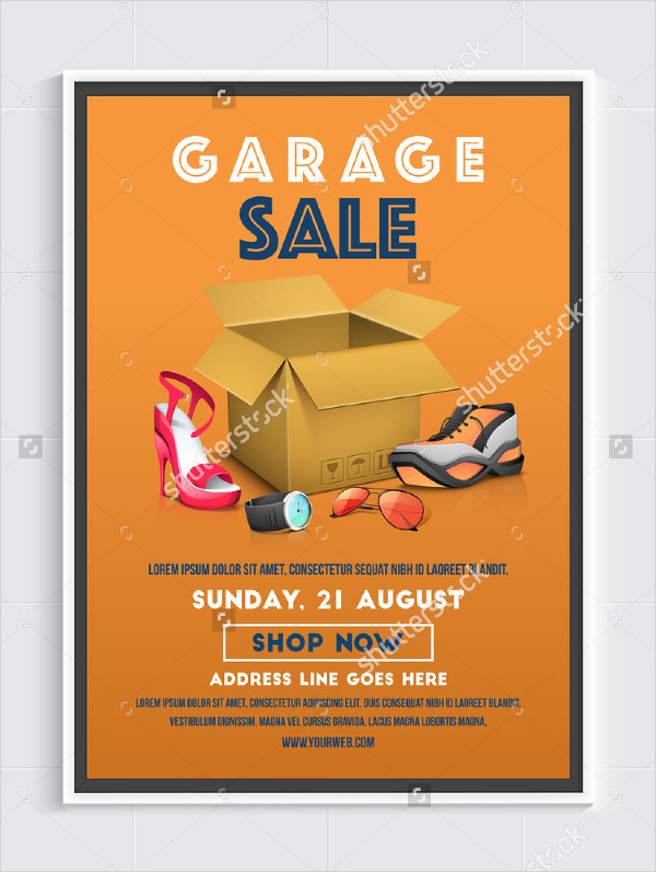 Seasonal Garage Sale Flyer Design